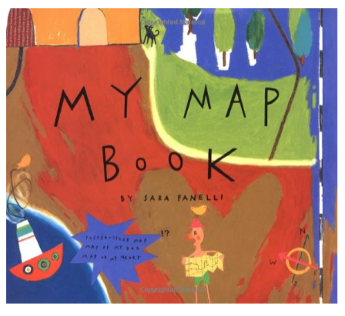 http://www.amazon.com/My-Map-Book-Sara-Fanelli/dp/0060264551/ref=sr_1_1?ie=UTF8&qid=1426463711&sr=8-1&keywords=my+map+book