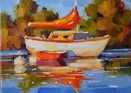 Let's Make a Painting: How to Paint Water Reflections