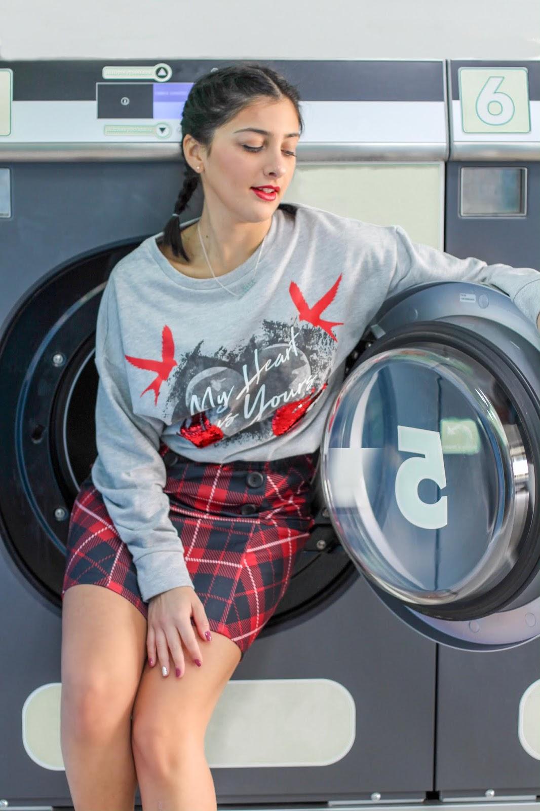 ragazza lavanderia