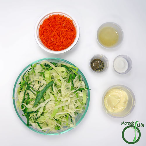 Morsels of Life - Cole Slaw Step 1 - Gather all materials.