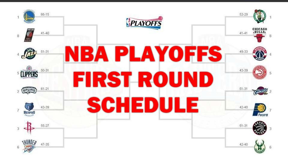2017 NBA Playoffs: First-Round Schedule