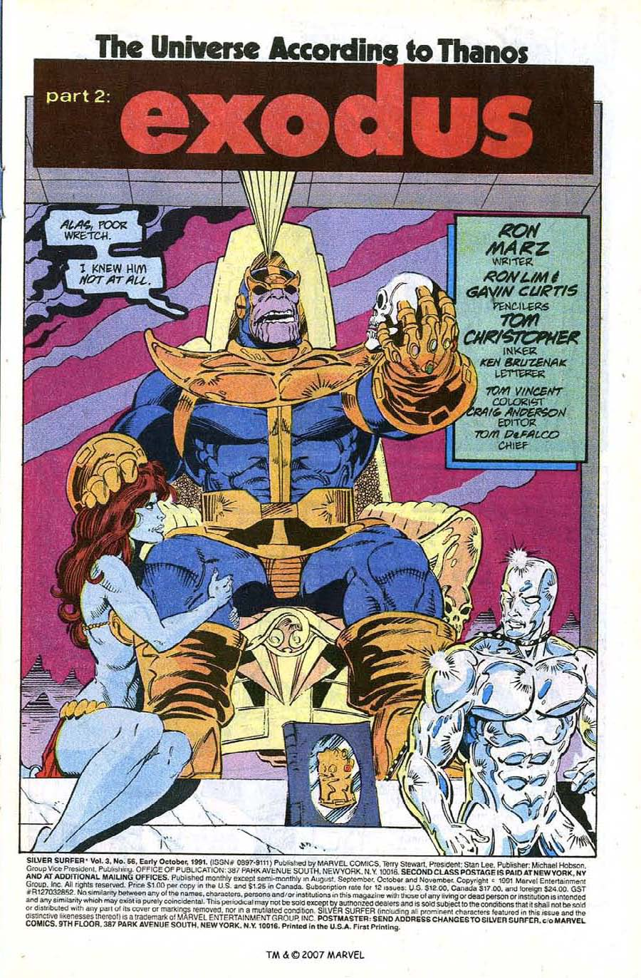 Read online Silver Surfer (1987) comic -  Issue #56 - 3