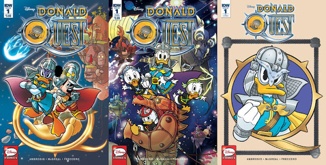 IDW's Donald Quest #1 - all cover variants