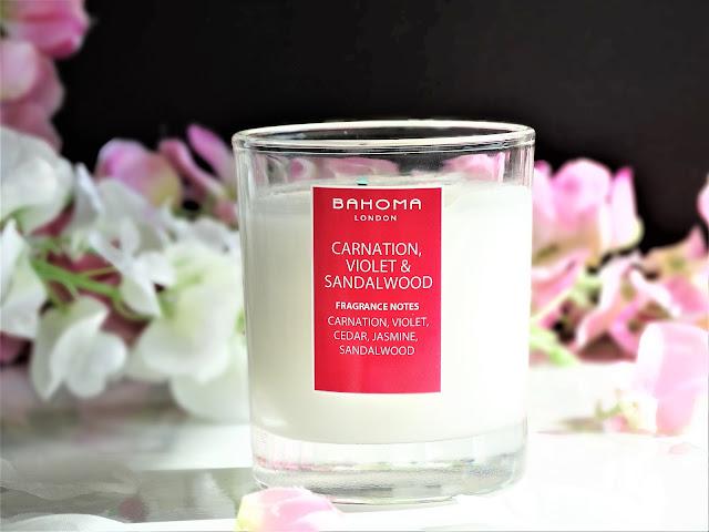 avis bougie bahoma, avis carnation violet sandalwood bahoma, carnation violet sandalwood bahoma candle review