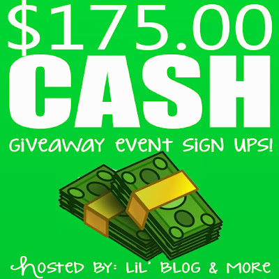 Blogger Opportunity. Sign up to promote the $175 Cash Giveaway Event.