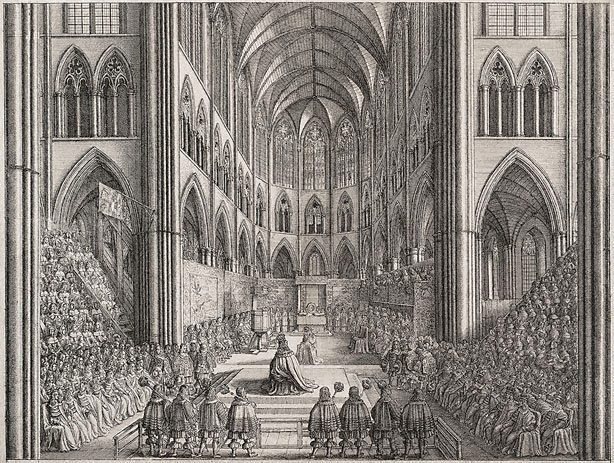 Coronation of Charles II - Wenceslaus Hollar
