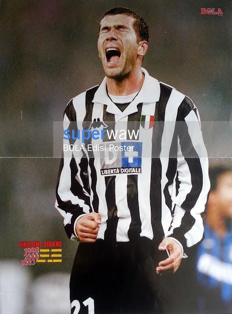 Poster Zinedine Zidane Juventus 1998