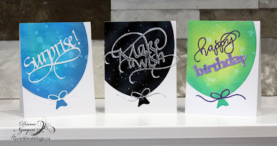 More CAS Big Balloon cards with Quietfire Design