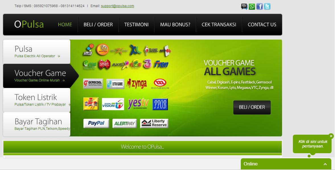 Daftar Penyedia dan Harga Voucher (Cash) Garena Indonesia