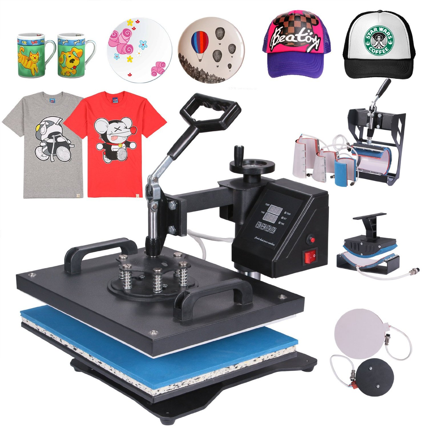 Sublimation Press Heat Press Machines Mophorn Heat Press 8 In 1 Multifunction