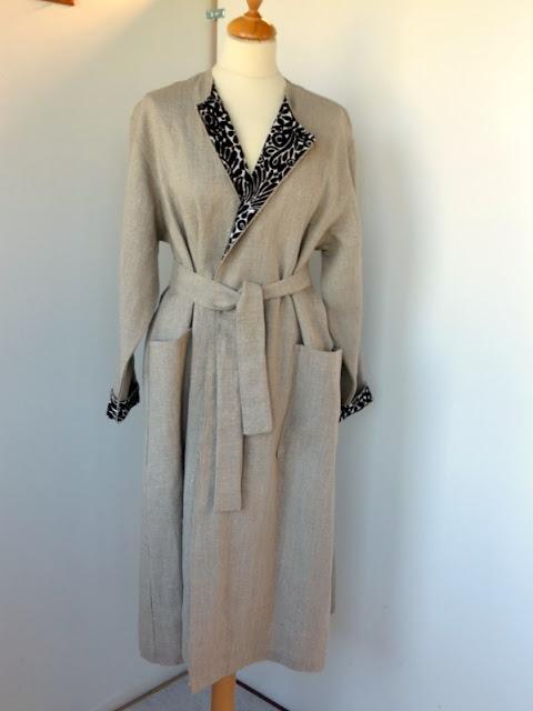 pellava saunatakki, bathrobe, linen