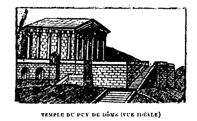 Temple de Wasso, sommet du Puy-de-Dôme, Auvergne.