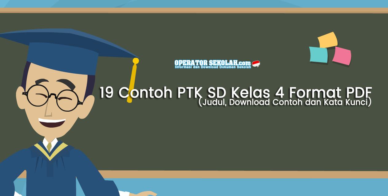 19 Contoh PTK SD Kelas 4 Format PDF