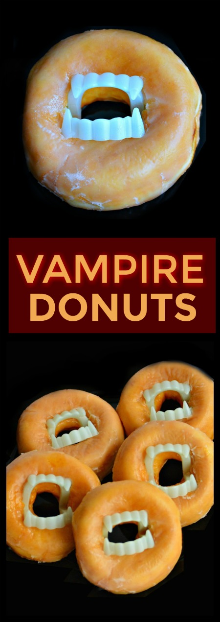 VAMPIRE DONUTS: super easy Halloween treat for kids! (Great for class parties)