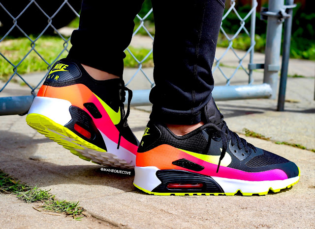 Nike Air Max 90 FB+ Black Volt Total Crimson Pink Blast