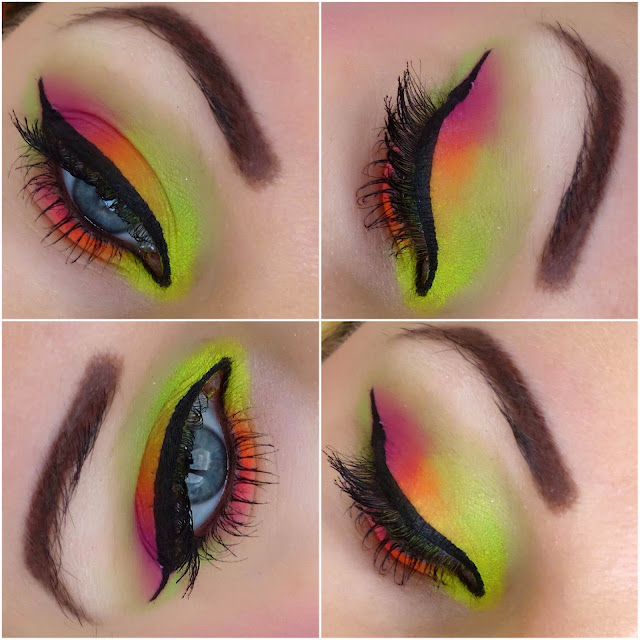 Spring Neon Makeup - Redemption Palette Acid Brights