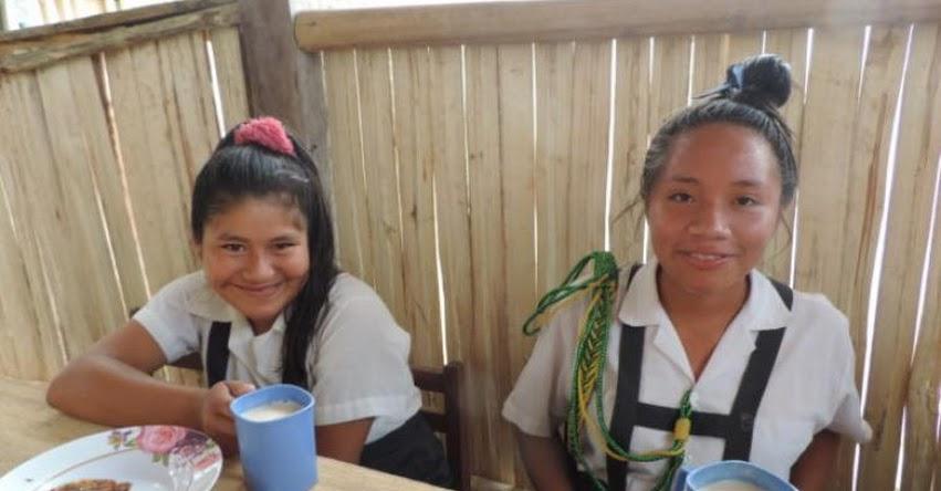 QALI WARMA: Jóvenes de comunidades nativas de Junín reciben desayuno y almuerzo durante jornada escolar - www.qaliwarma.gob.pe