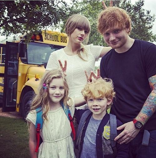 Taylor Swift and Ed Sheeran with Kids