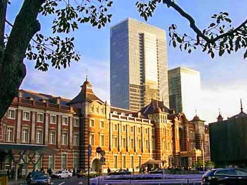Marunouchi side of Tokyo Station, Japan.