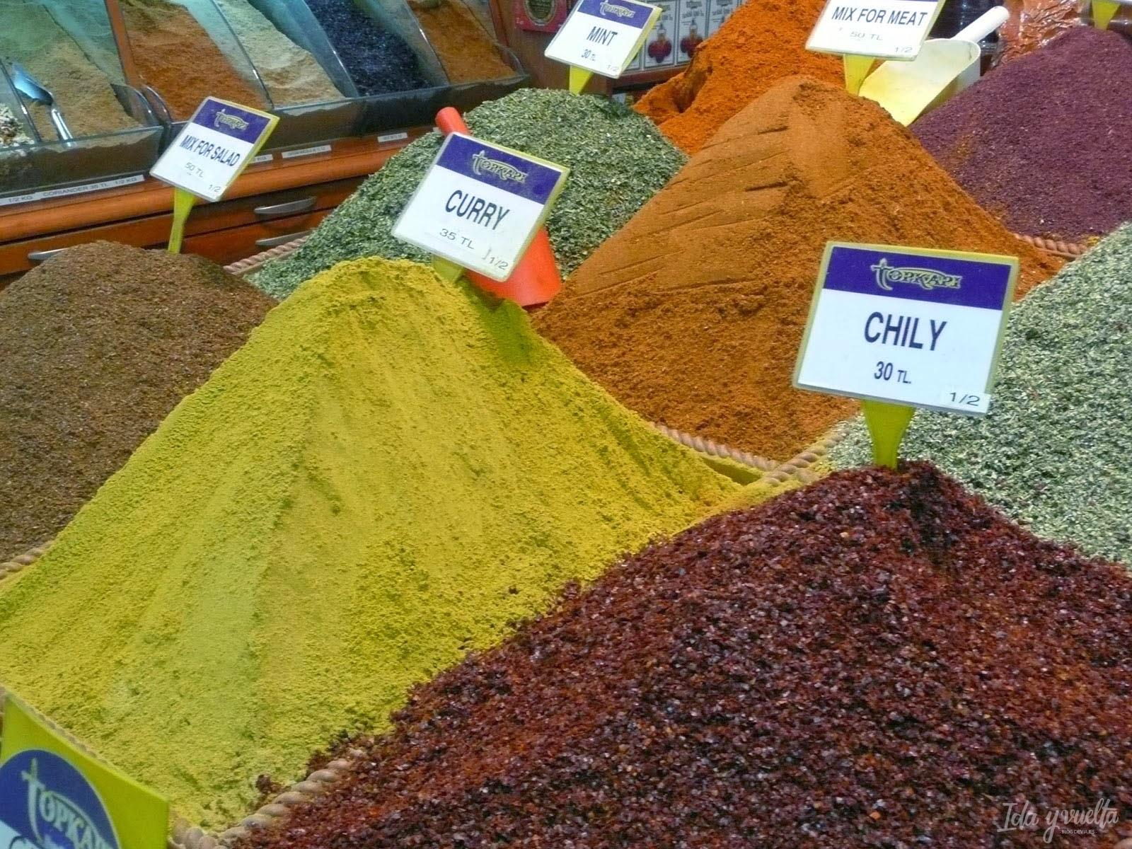 Especias en el Bazar