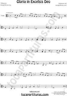 Viola Partitura de Gloria in excelsis deo Villancico Sheet Music for Viola Music Score
