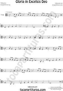 Viola Partitura de Gloria in excelsis deo Villancico Sheet Music for Viola Music Score