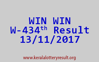WIN WIN Lottery W 434 Results 13-11-2017