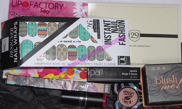 Lip Factory May 2014 replacement beauty box unboxing