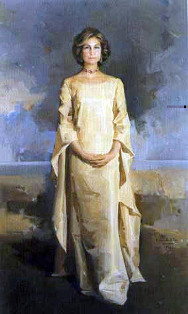Retrato de S.M. La Reina Doña Sofía  de Grecia, Félix Revello de Toro, Revello de Toro, Pintores Malagueños, Retratos de Revello de Toro, Pintor español, Pintores de Málaga, Pintor Revello de Toro