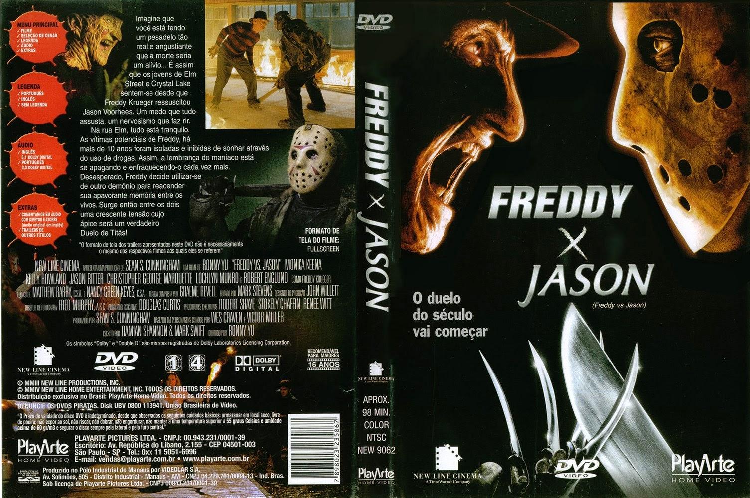 Freddy vs Jason DVD Capa