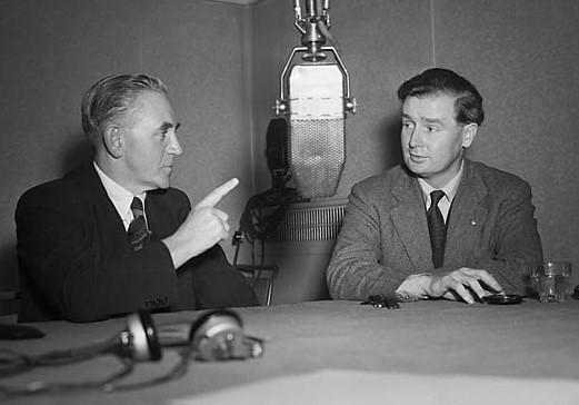 BBC, Iorwerth Thomas y Gwynfor Evans, en 1951