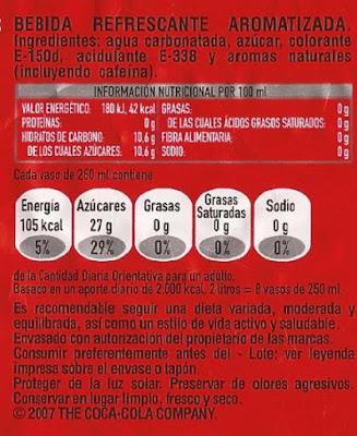 Etiqueta bebida carbonatada