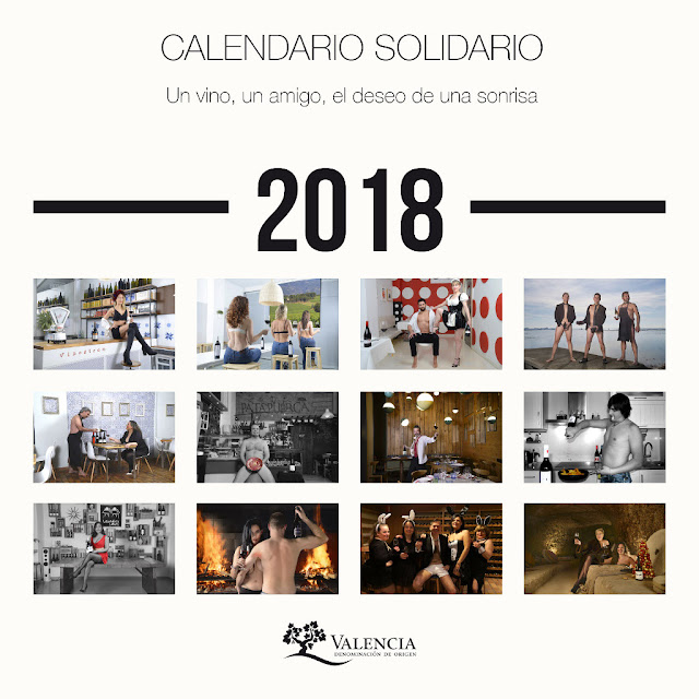 La DO Valencia presenta su calendario solidario 2018