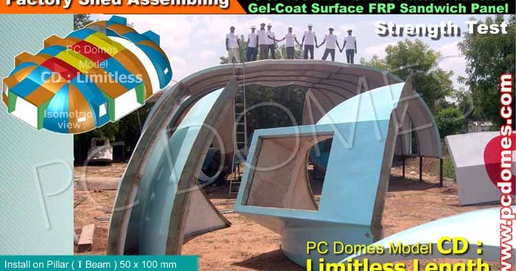 Frp Puf Sandwich Domes House Frp Domes Shelter