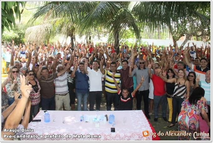Em Mata Roma, Por unanimidade e com apoio do povo, oposição indica Araújo Diniz e Besaliel a sucessão Municipal em 2016.