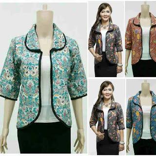 Model Baju Batik bolero karin series
