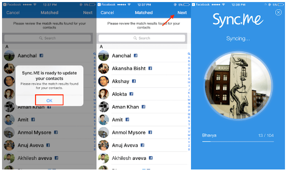 Sync Facebook Photos With Contacts