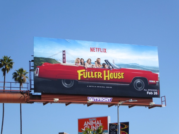 Fuller House series launch billboard