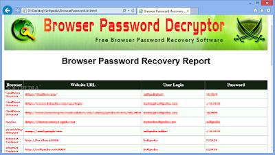 Browser Password Decryptor: Find Lost Password