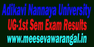 Adikavi Nannaya University BCA 2016 Exam Results