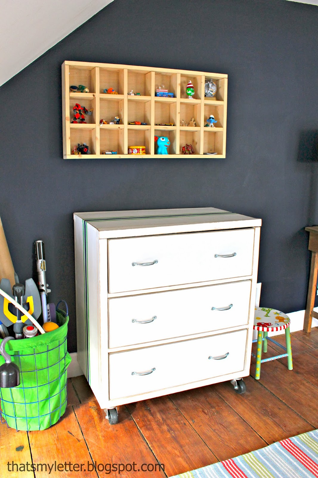 diy dresser with cubby shelf