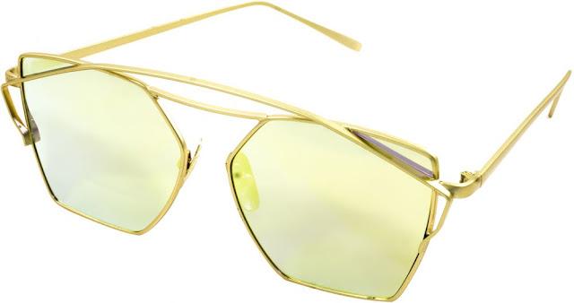 888be2a03 نظارة شمسية للنساء من ديناردو - ذهبي