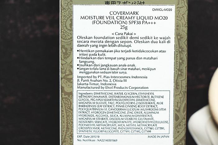 Vani Sagita Covermark Moisture Veil Creamy Liquid MO20