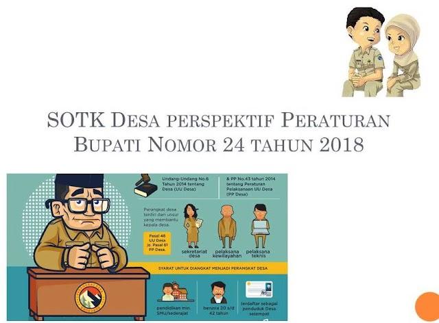 Peraturan Bupati Pangandaran Nomor 24 Tahun 2018 tentang SOTK Desa