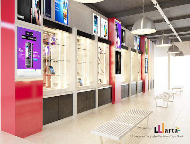 Desain Counter Showroom Toko Handphone