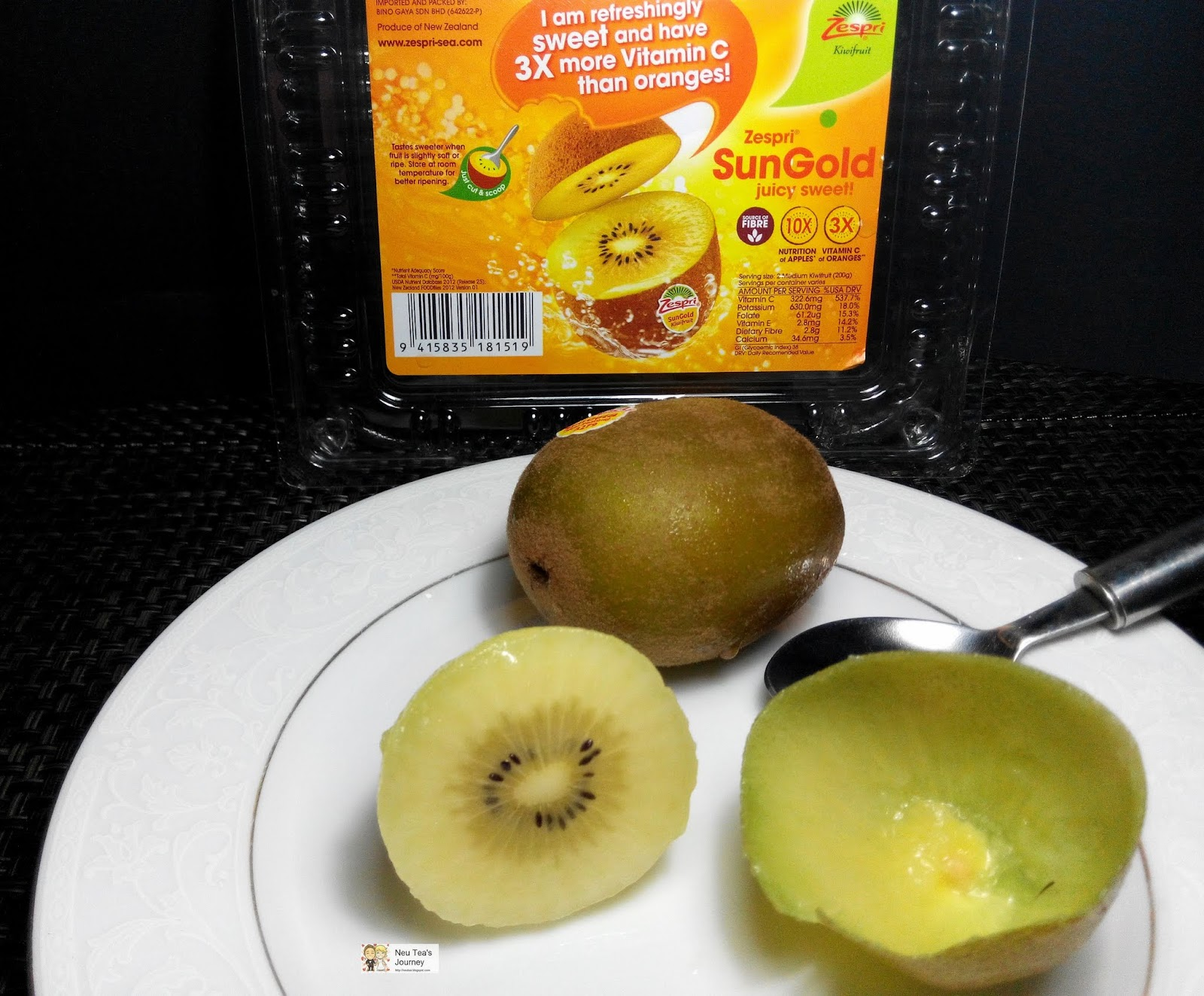 Neu Tea's Journey: Zespri Sungold Kiwi 黄金奇异果 from New Zealand