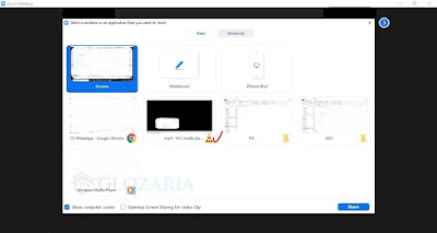Cara Menampilkan Share Screen Video di Zoom Sebagai Host dan Co-Host