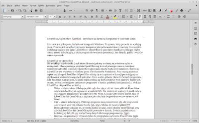 LibreOffice w Linux Mint