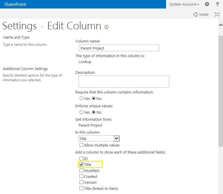 sharepoint remove hyperlink lookup field
