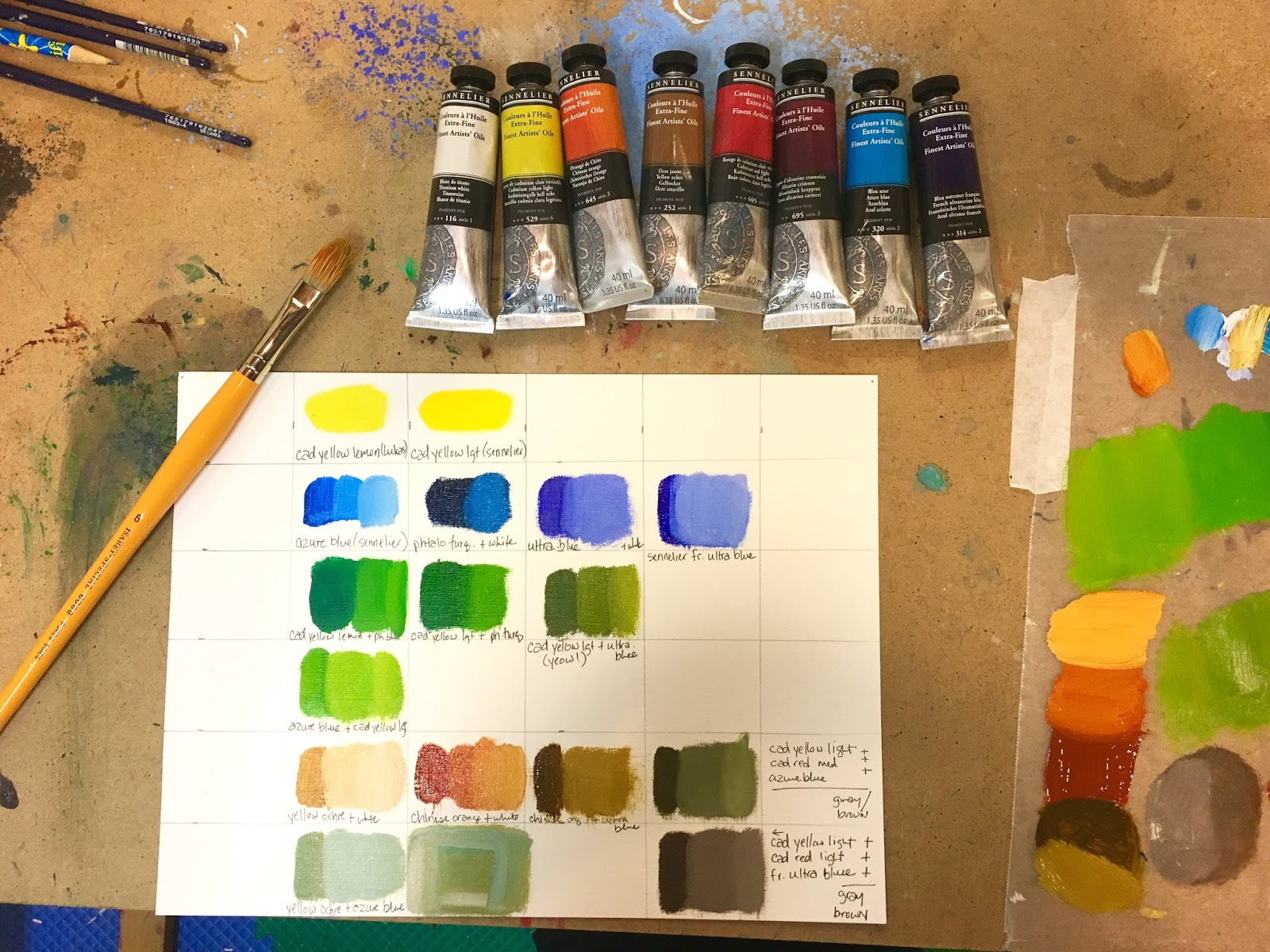 how to make light blue paint
